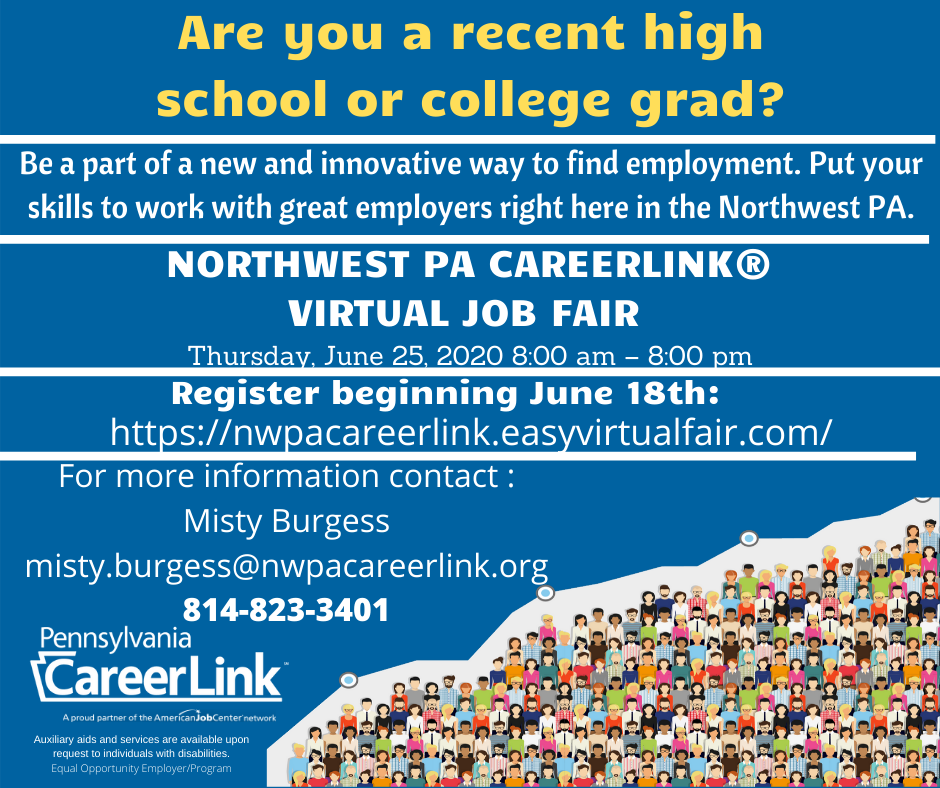 Be a part of a new and innovative way to find employment. Put your skills to work with great employers right here in the Northwest Pennsylvania.